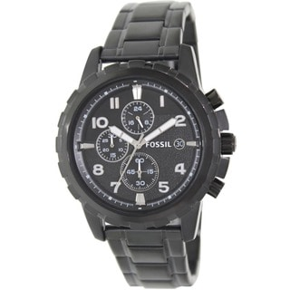 Fossil Men's FS4827 Dean Chronograph Black Stainless Steel Watch