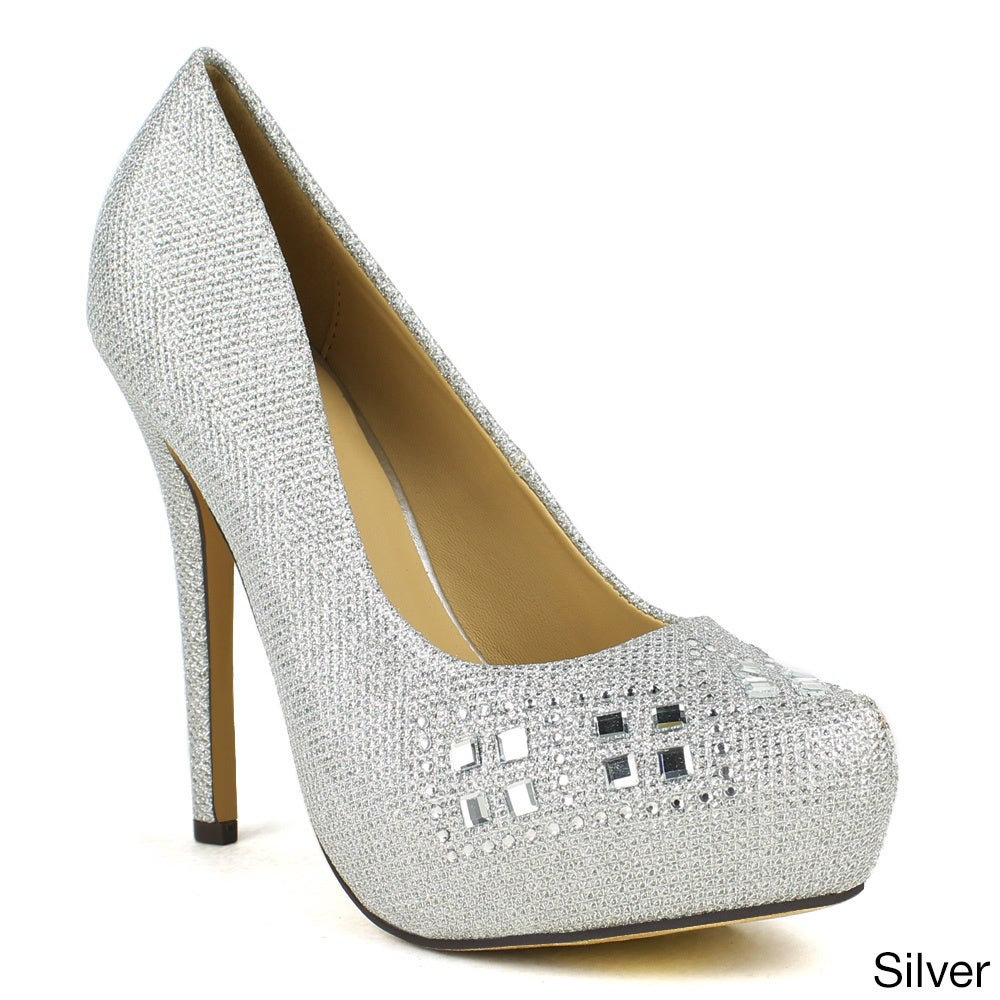celeste Women's 'Ingrid-07' Embellished High Heel Dress Pump