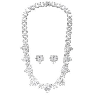 Journee Collection Brass Cubic Zirconia Jewelry Set