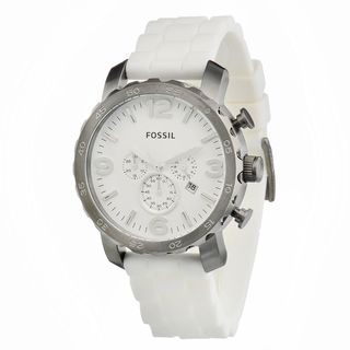 Fossil Men's JR1427 'Nate' White Silicone Watch
