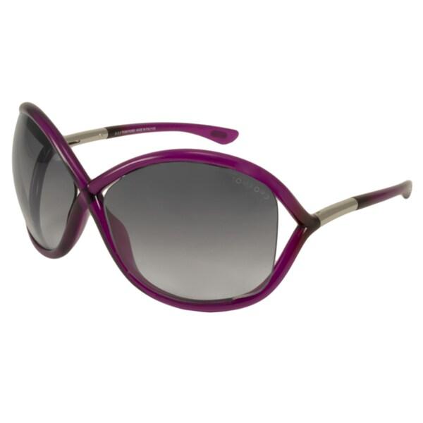 Tom Ford Womens TF9 Whitney 75B Shiny Fuchsia Plastic Fashion Sunglasses