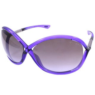 Tom Ford Women's TF9 Whitney 78Z Shiny Lilac Plastic Fashion Sunglasses