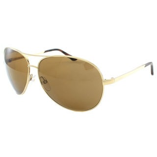 Tom Ford Unisex TF35 Charles 28H Gold Aviator Metal Polarized Fashion Sunglasses