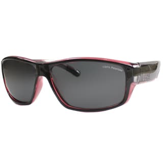 US Polo Association Unisex Catalina Black And Red Plastic Polarized Sport Sunglasses