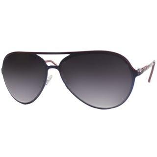 US Polo Association Unisex Telluride Navy and Red Plastic Aviator Sunglasses