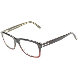 Tom Ford Men's TF5163 FT5163 56A Havana Black Rectangle Plastic Eyeglasses