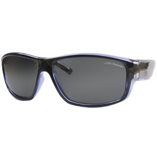 US Polo Association Unisex Catalina Black and Blue Plastic Polarized Sport Sunglasses