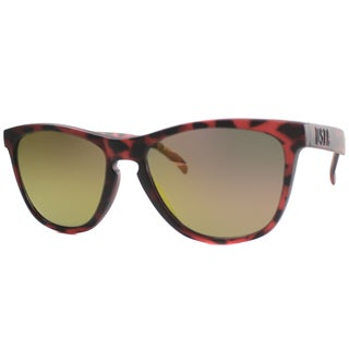 US Polo Association Unisex Malibu Matte Red Tortoise Plastic Sunglasses