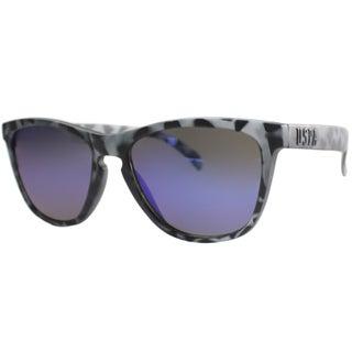 US Polo Association Unisex Malibu Matte Grey Tortoise Plastic Sunglasses