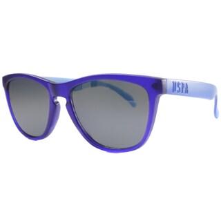 US Polo Association Unisex Malibu Matte Blue Plastic Sunglasses