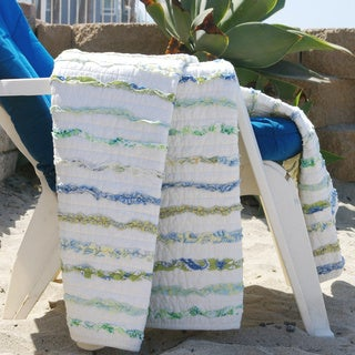 Jasmine Ruffled Cotton Throw