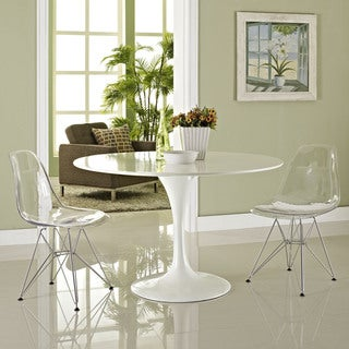 Clear Paris Side Chairs with Wire Base (Set of 2)