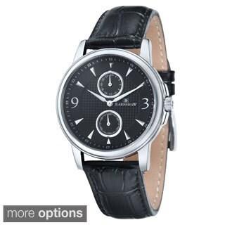 Earnshaw Men's Flinders Multi-function Leather Watch
