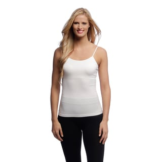 Body Beautiful Women's Black and White Seamless Camisoles (Set of 2)