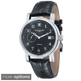 Earnshaw Men's Fitzroy Automatic Leather Watch