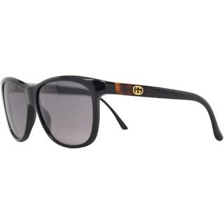 Gucci Women's GG 3613/S 6ESEU Black Acetate Oversized Sunglasses