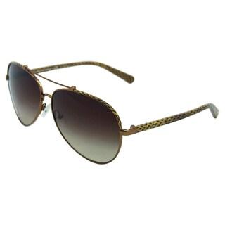 Tory Burch Women's TY 6021Q 399/13 Brown Metal Fashion Sunglasses