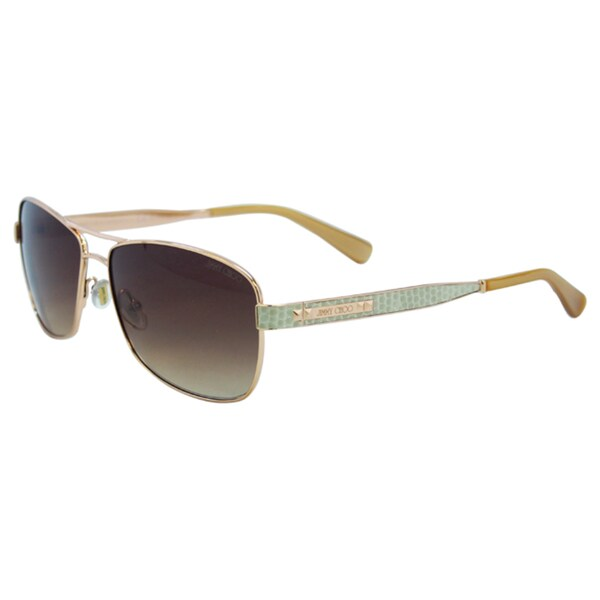 Jimmy Choo Women's Cris/S 0AU2 D8 Red Gold Fashion Metal Sunglasses