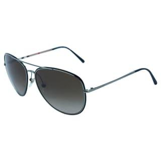 Burberry Men's BE 3062 1003/13 Grey Metal Fashion Sunglasses