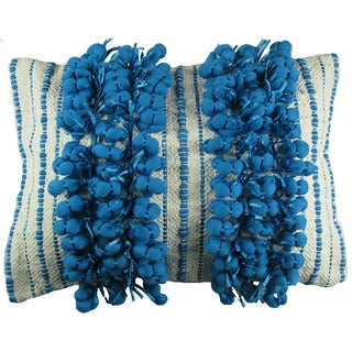 Decorative Fringe Down Filled Throw Pillow