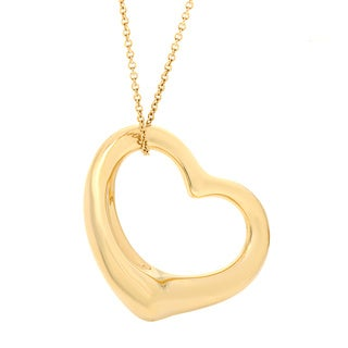 Tiffany & Co 18k Yellow Gold Elsa Peretti Open Heart Necklace