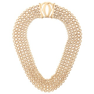 "Cartier 18k Yellow Gold Penelope ""Double C"" Choker Necklace"