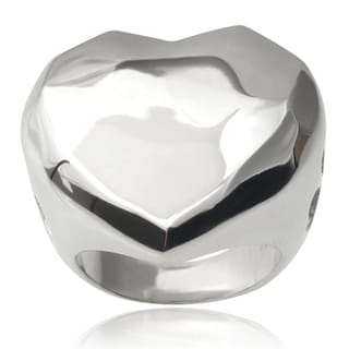 Journee Collection Brass Heart Ring