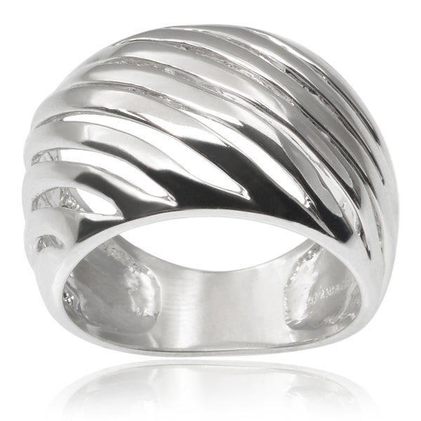 Journee Collection Brass Dome Ring