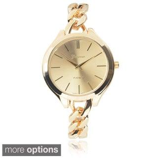 Geneva Platinum Stainless Steel Chain Watch