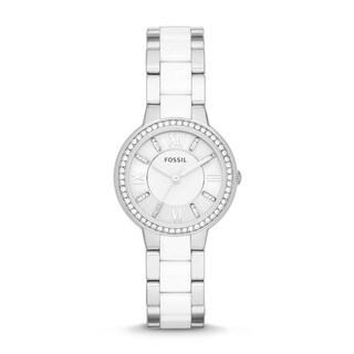 Fossil Women's ES3560 Virginia Analog Display Analog Quartz Silvertone Watch