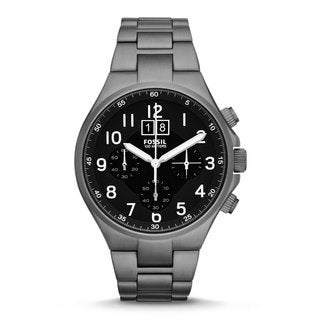 Fossil Men's CH2905 Qualifier Black Analog Display Grey Stainless Steel Watch