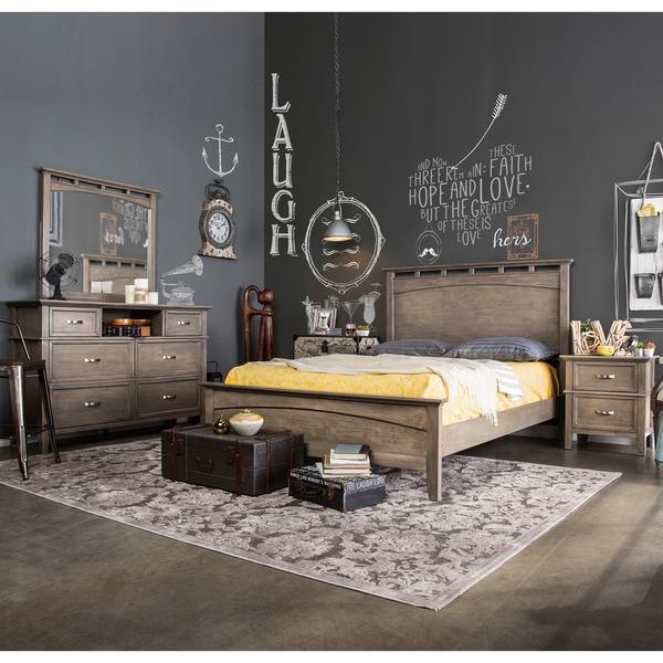 Furniture of America Seashore 4-piece Weathered Oak Bed Set 13243251