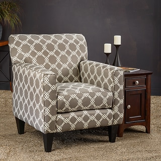 Christopher Knight Home Eli Metro Grey Fabric Track Arm Accent Club Chair