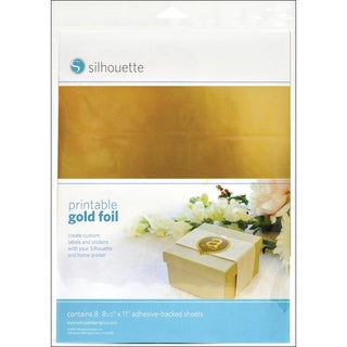 Silhouette Printable Gold Foil.
