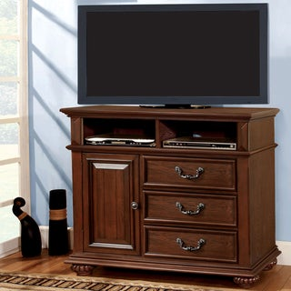 Furniture of America Barath Antique Dark Oak Media Chest