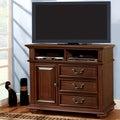 Furniture of America Barath Antique Dark Oak Media Chest