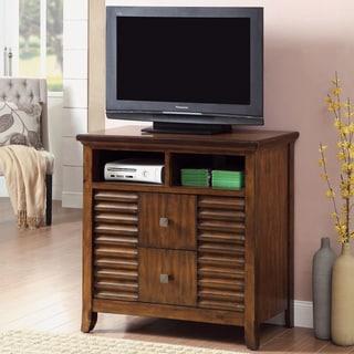 Furniture of America Tyrenia Walnut Finish Media Chest