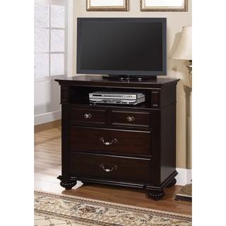 Furniture of America Grande Dark Walnut Media Chest