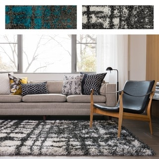 Stella Abstract Shag Rug (5'2 x 7'7)