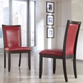 Signature Designs by Ashley Trishelle Red Upholstered Dining Side Chairs (Set of 2)