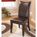 Signature Designs by Ashley Charrell Brown Leather Dining Chairs (Set of 2)