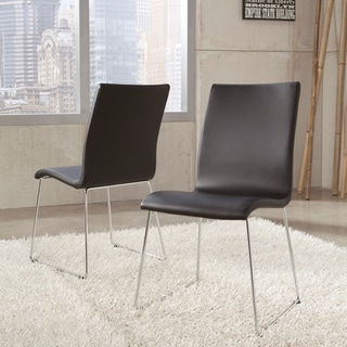 Signature Designs by Ashely Daryl Black PVC Dining Side Chair (Set of 2)