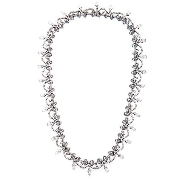 Pre-owned 18k White Gold 20ct TDW Fine Edwardian Diamond Necklace (I-J, SI1-SI2)