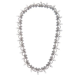 18k White Gold 20ct TDW Fine Edwardian Diamond Necklace (I-J, SI1-SI2)