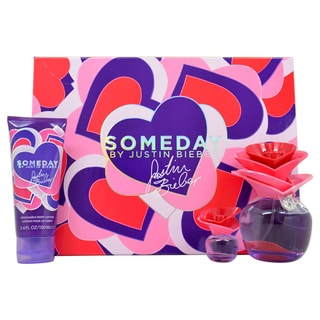 Someday by Justin Bieber for Women - 3 Pc Gift Set