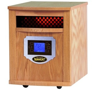 Sunheat Electric Portable 1500-watt Infrared Heater with Remote Control / LCD Display