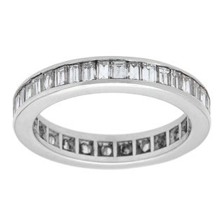 Platinum 2ct TDW Eternity Band Ring (G-H, VS1-VS2)