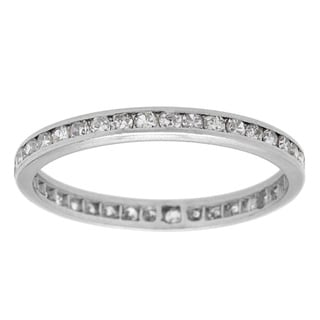 Pre-owned Platinum 3/5ct TDW Diamond Estate Eternity Band (H-I, SI1-SI2)