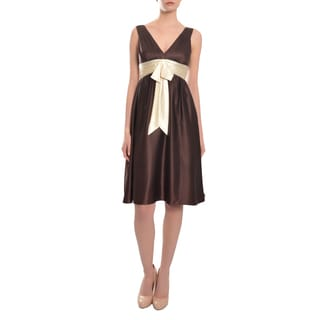 Laundry Women's Chocolate Silk Cocktail Dress
