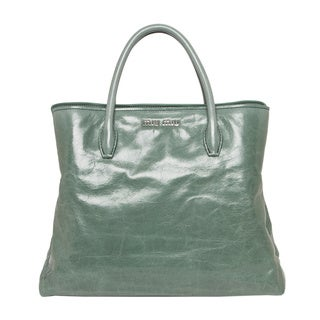 Miu Miu Vitello Glossy Leather Tote Handbag